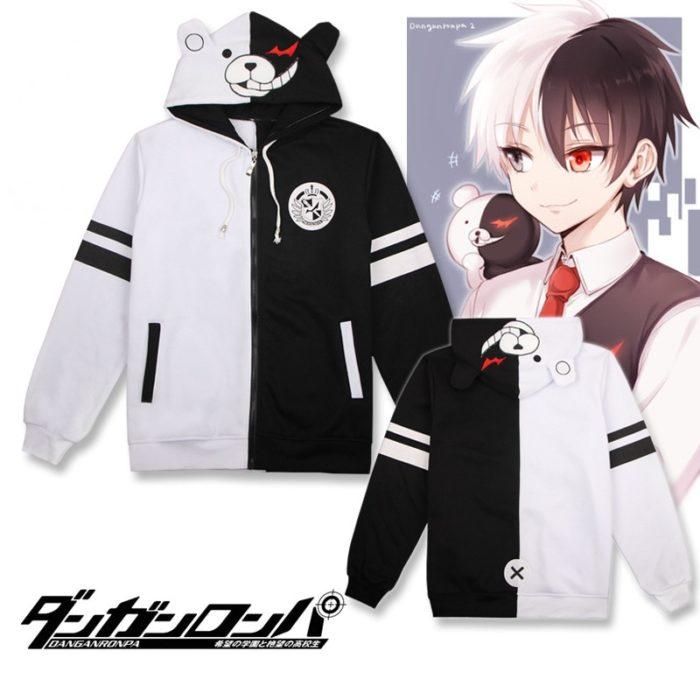 Danganronpa Monokuma Cosplay Kostüm Unisex Hoodie Sweatshirt T-shirt Mit Kapuze Jacke Täglich Casual Mantel Spiel Anime Peripheren 1