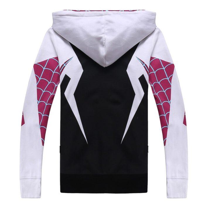 Spinne Gwen Stacy Cosplay Kostüm 3D Zipper Jacke Mantel Outfit Kleidung Hoodies Sweatshirt Halloween Kostüme 5