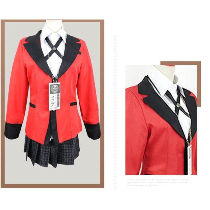 Anime Kakegurui Cosplay Figur Yomotsuki Runa Cosplay Kostüm JK Schule Mädchen Einheitliche Hoodie Halloween Kleid Für Frauen 6