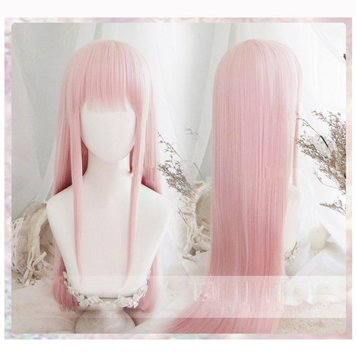 Anime LIEBLING in die FRANXX 02 Cosplay Perücken Null Zwei Perücken 100cm Lange Rosa Synthetische Haar Perucas Cosplay Perücke + perücke Kappe 1