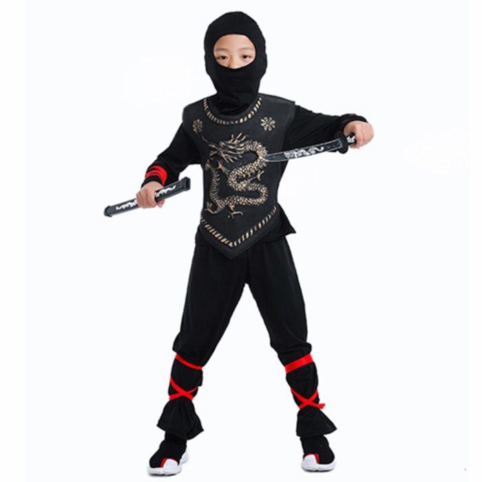 Ninja Kostüm Kind Ninjago Party Kostüme Jungen Mädchen Halloween Phantasie Kleid Superhero Cosplay Ninja Anzug Kinder Kleidung Set Geschenk 4