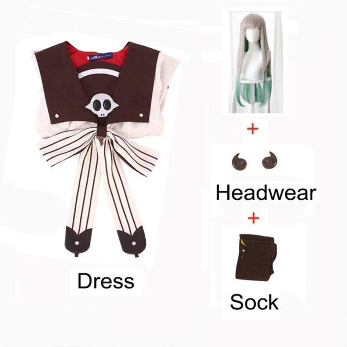 2020 Anime Hanako-kun Cosplay Kostüme Uniform Kleid Wc-Gebunden Jibaku Shounen Yashiro Nene Perücke Hanako Kun Kleid uniform Anzug 3