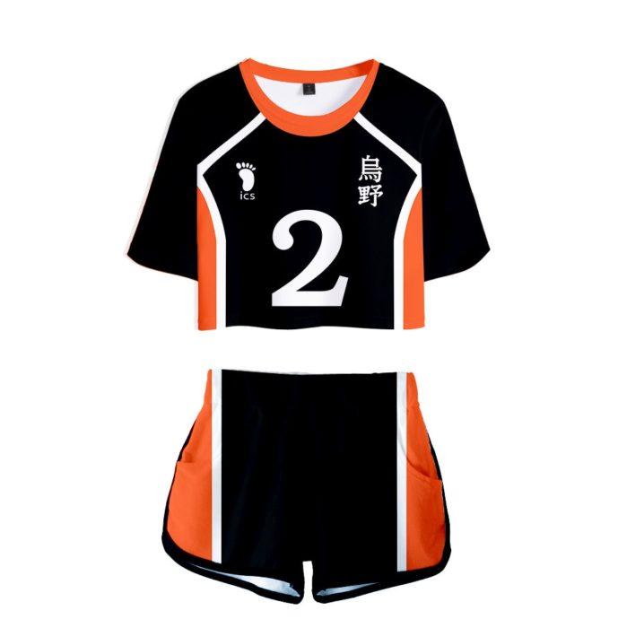 Haikyuu Cosplay Kostüm Hinata Shoyo Hemd Shorts Nishinoya Yuu Uniform Sport Karasuno Koukou Hohe Schule Volleyball Club Frauen 8