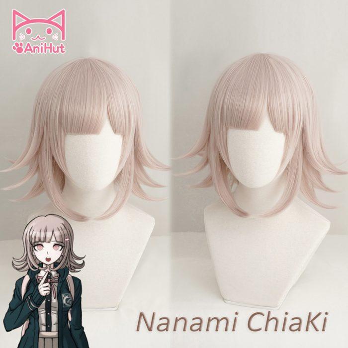 【AniHut】NANAMI CHIAKI Perücke Super Danganronpa Cosplay Perücke Anime Cosplay Haar Synthetische Wärme Beständig Frauen Haar 1