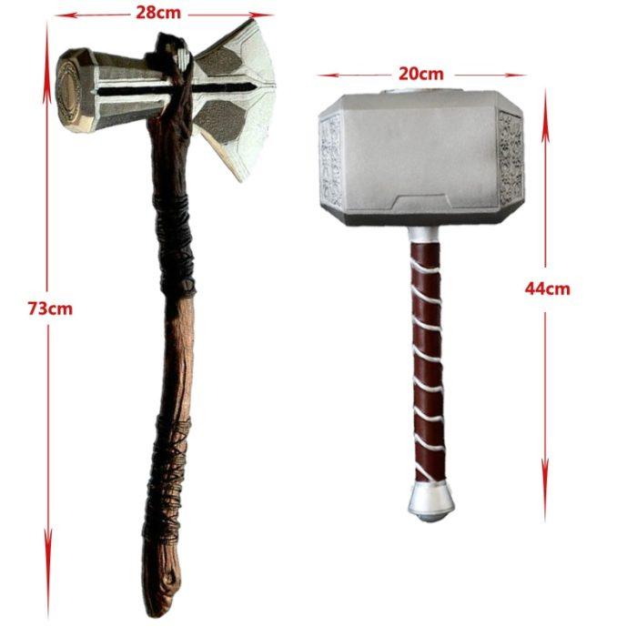1:1 Thor Axt Hammer Cosplay Waffen Film Rolle Spielen Thor Donner Hammer Axt Stormbreaker 73cm 44cm 1