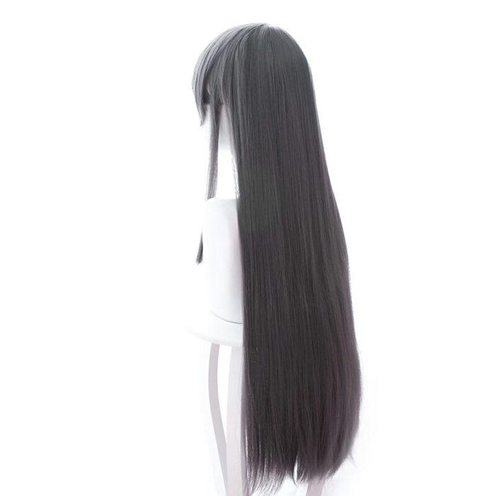 Sakurajima Mai Grau Lange Perücke Cosplay Kostüm Seishun Buta Yarou wa Bunny Mädchen Senpai keine Yume wo Minai Wärme Beständig haar 4
