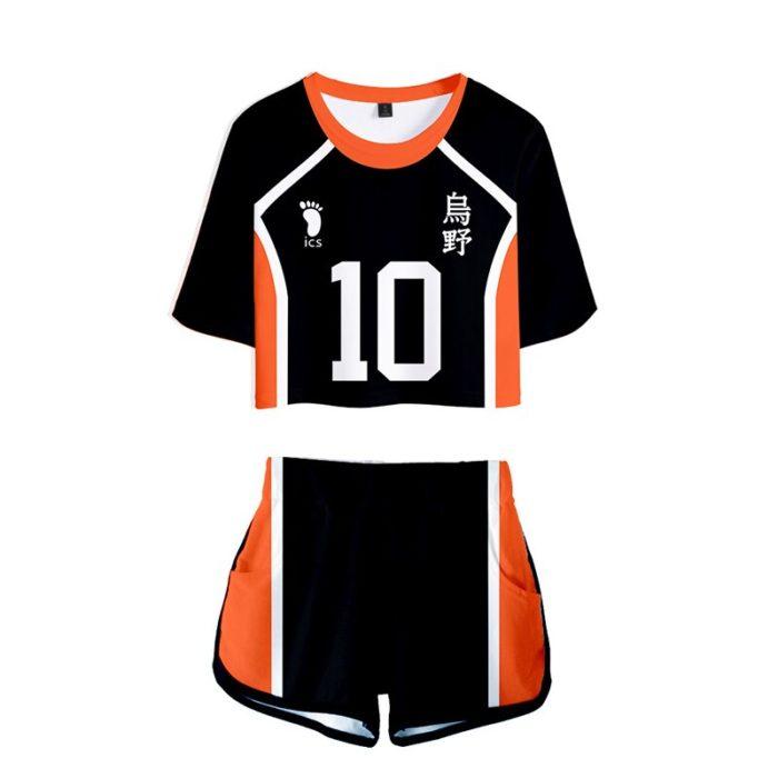Haikyuu Cosplay Kostüm Hinata Shoyo Hemd Shorts Nishinoya Yuu Uniform Sport Karasuno Koukou Hohe Schule Volleyball Club Frauen 4