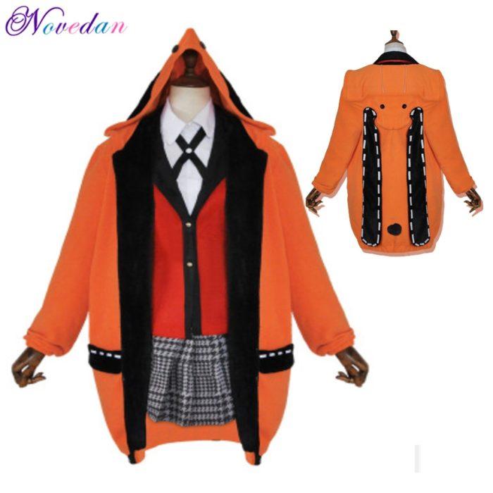 Anime Kakegurui Cosplay Figur Yomotsuki Runa Cosplay Kostüm JK Schule Mädchen Einheitliche Hoodie Halloween Kleid Für Frauen 1