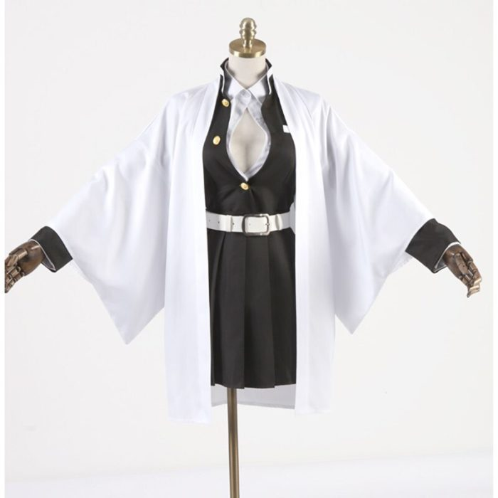 Anime Comic Dämon Slayer Kimetsu Keine Yaiba Cosplay Kostüme Kanroji Mitsuri Cosplay Kostüm Frauen Tuch Klinge Von Dämon Kimono 2