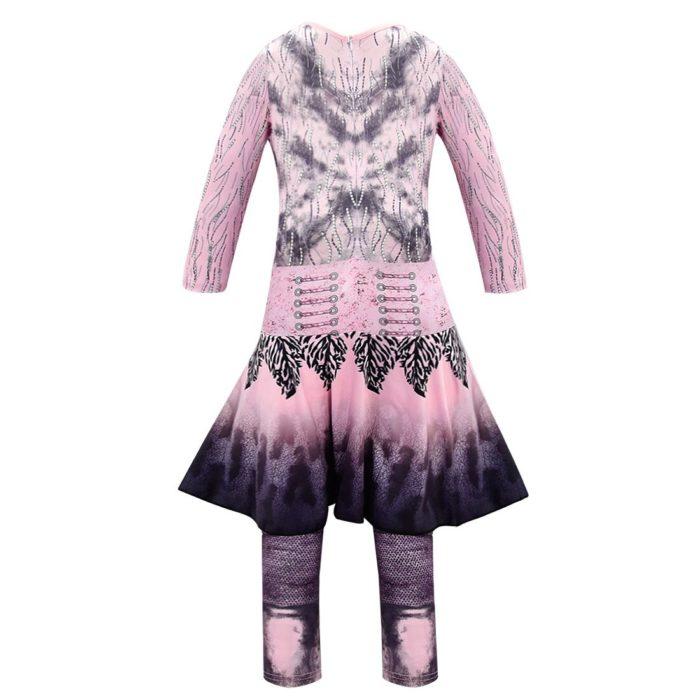 Rosa Audrey Kostüme mädchen Halloween Kostüme für Kinder Phantasie Party frauen Kostüm evie nachkommen 3 Mal Cosplay Fantasia kostüme 4