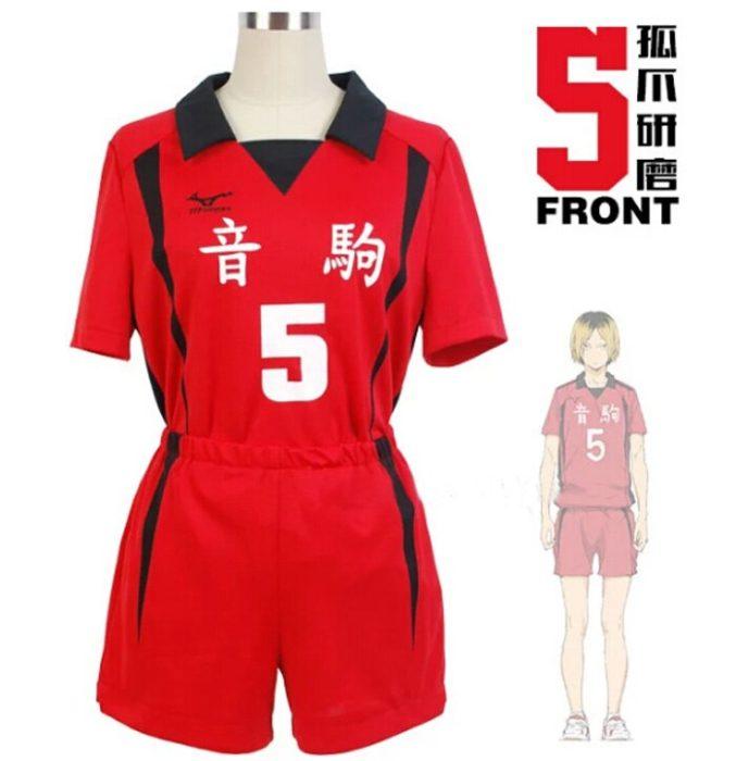 Haikyuu!! Nekoma Hohe Schule #5 1 Kenma Kozume Kuroo Tetsuro Cosplay Kostüm Haikiyu Volley Ball Team Jersey Sportswear Uniform 4