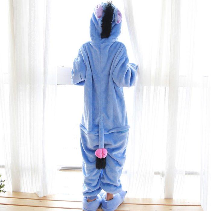 Kinder Kigurumi Kinder pyjamas Winter Flanell Tier pyjamas einem stück Kaninchen Totoro Stich Panda Cosplay baby Junge mädchen pyjamas 3