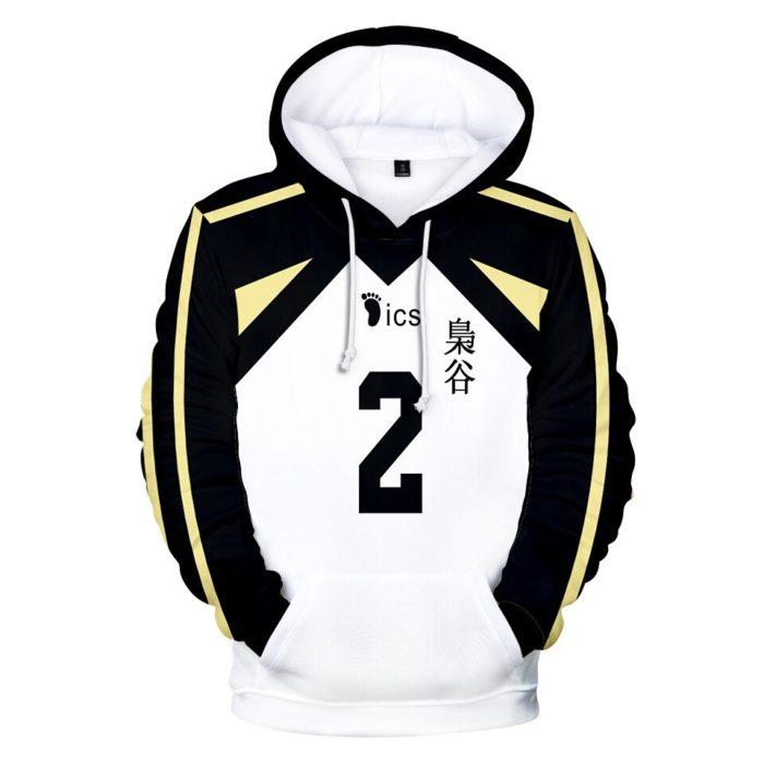 Japan Anime Haikyuu Cosplay Kostüm Fukurodani Akademie Volleyball Club Akaashi Keiji Bokuto Koutarou Unisex 3D Hoodie Sweatshirt 4