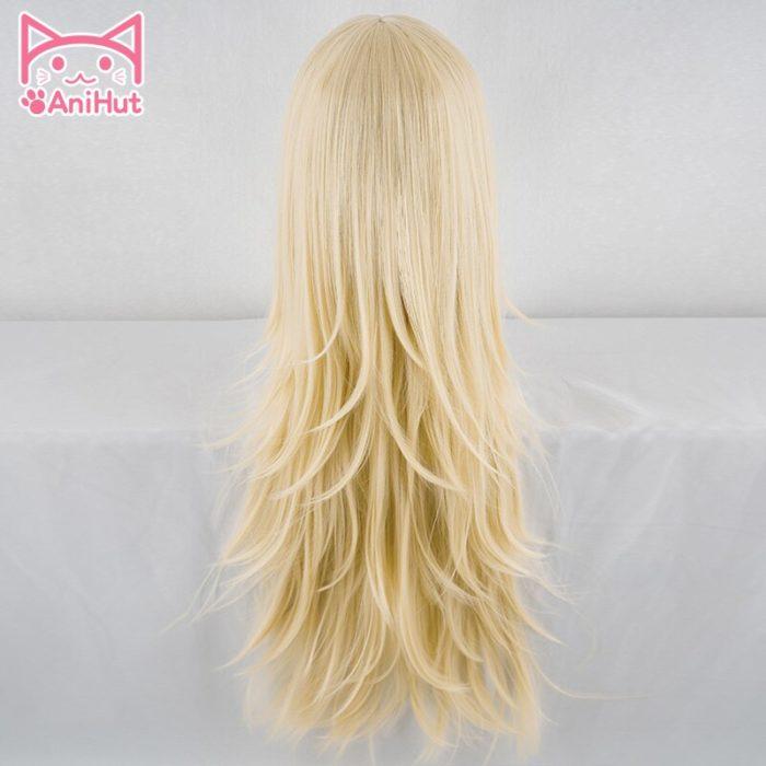 【AniHut】Rachel Gardner Perücke Engel von Tod Cosplay Perücke Synthetische Blonde Haar Ray Cosplay 4