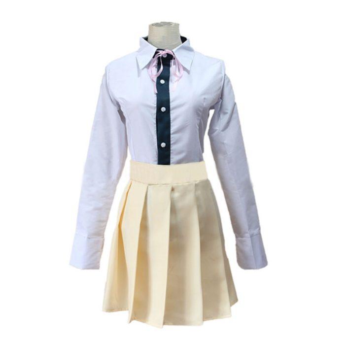 6PCS Sets Danganronpa Chiaki Nanami Cosplay Kostüm Dangan Ronpa Uniform Jacke Bluse/Hemd Rock Cosplay Perücke Krawatte Katze rucksack 4