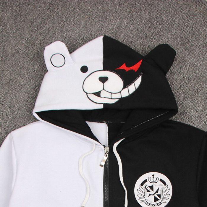 Danganronpa Monokuma Cosplay Kostüm Unisex Hoodie Sweatshirt T-shirt Mit Kapuze Jacke Täglich Casual Mantel Spiel Anime Peripheren 2