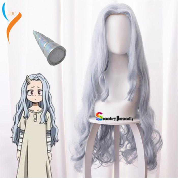 2020 Fashion Anime Mein Hero Wissenschaft Eri Chisaki Frau Grau Blau Perücke Cosplay Hitze Beständig Synthetische Perücken + freie Wig kappe 1