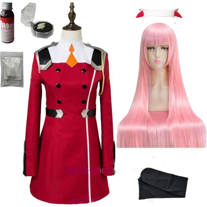 02 null Zwei Cosplay Kostüm LIEBLING in die FRANXX Cosplay DFXX Frauen Kostüm Volle Sets Kleid 1