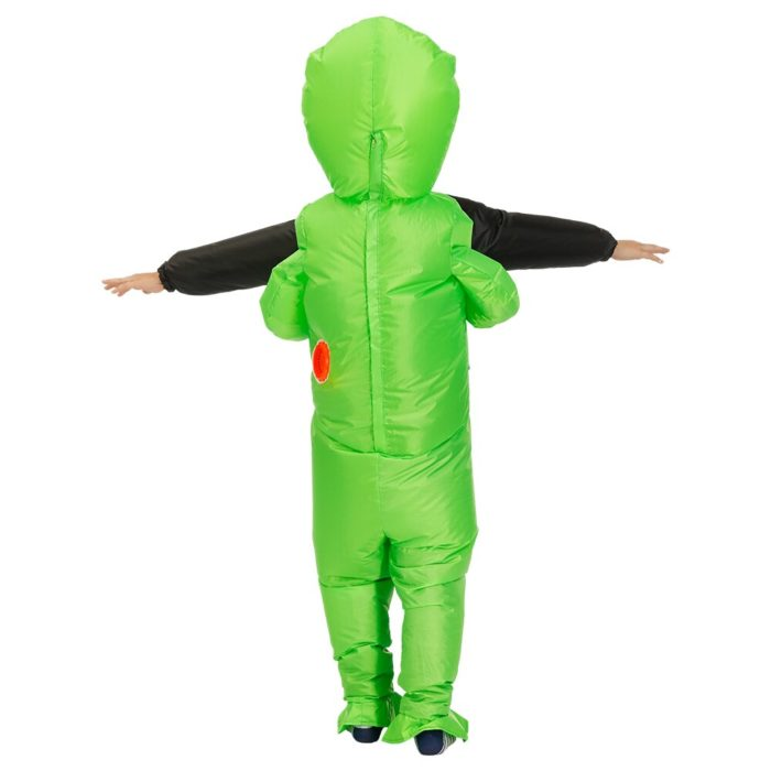 Heißer Grün Alien Aufblasbare kostüm Cosplay kostüm Lustige Blow Up Anzug Party kostüm Fancy Kleid Halloween Kostüm für erwachsene kinder 4