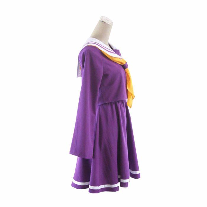 Kein spiel kein leben cosplay Shiro kostüm halloween frauen kleidung carival kleid perücken sailor anzug Japanische schuluniform 3