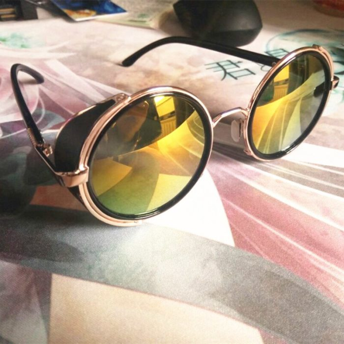 Anime HELLSING Alucard cosplay prop Vampire Hunter Gläser Orange Sonnenbrille für Männer Frauen 4