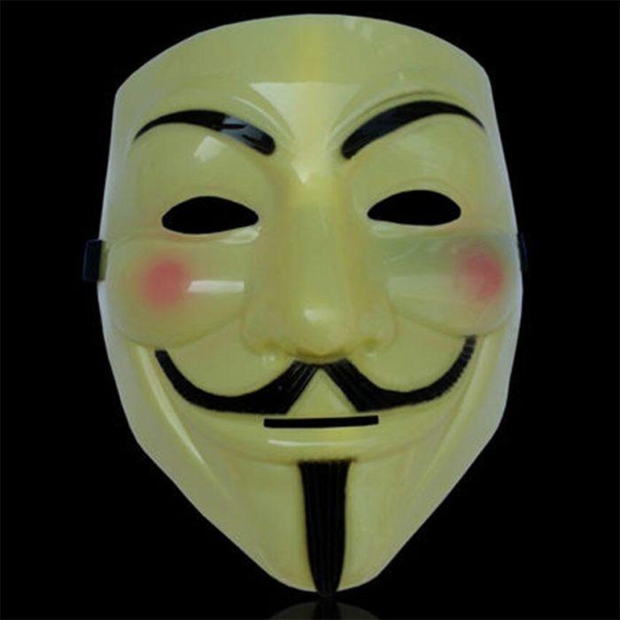 V Wie Vendetta Maske Guy Fawkes anonymous-maske Halloween Kostüm Cosplay Venezianischen Karneval Maske Weihnachten Geschenke für Männer 4