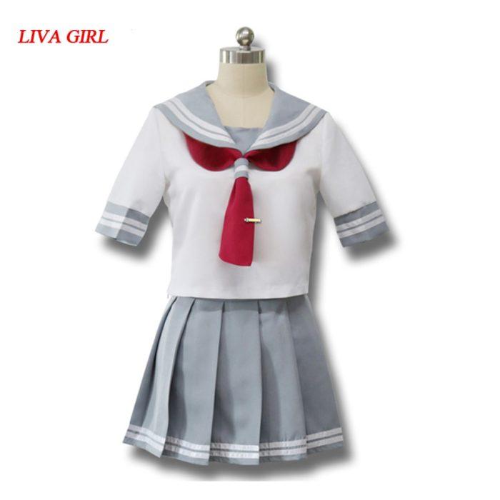 Japanischen Anime Liebe Live Sonnenschein Cosplay Kostüm Takami Chika Mädchen Sailor Uniformen Liebe Live Aqours Schule Uniformen 1