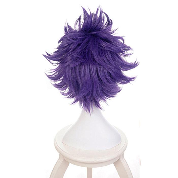 Boku keine Hero Wissenschaft Shinsou Hitoshi Shinso Perücke Cosplay Kostüm Mein Hero Wissenschaft Kurze Lila Perücken Synthetische Haar + Perücke kappe 4