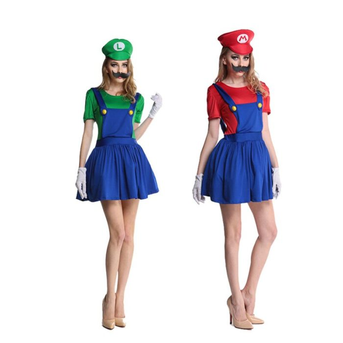 Super Mario Kleidung Erwachsene und Kinder Mario Familie Bros Cosplay Kostüm Set Kinder Geschenk Halloween Party MARIO & LUIGI Kleidung 5
