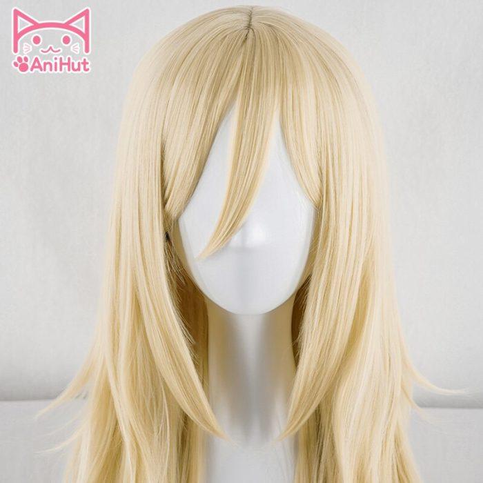 【AniHut】Rachel Gardner Perücke Engel von Tod Cosplay Perücke Synthetische Blonde Haar Ray Cosplay 3