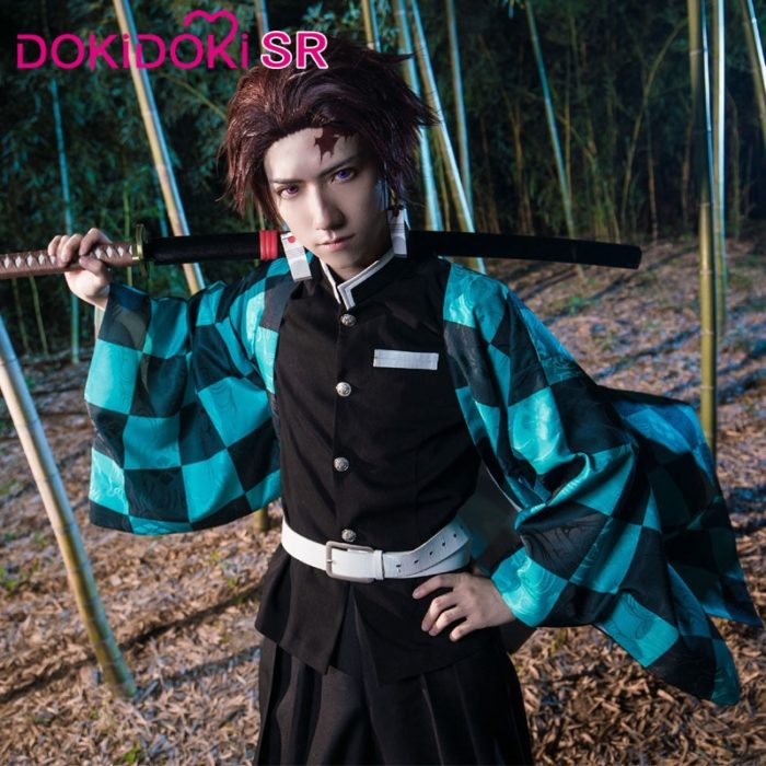 DokiDoki-SR Anime Cosplay Dämon Slayer: kimetsu keine Yaiba Cosplay Kamado Tanjirou Cosplay Dämon Slayer Kimetsu keine Yaiba Kostüm 1