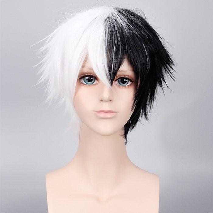 Anime Danganronpa Monokuma Perücke Dangan Ronpa Wärme Beständig Synthetische Haar Cosplay Perücken + Perücke Kappe 1