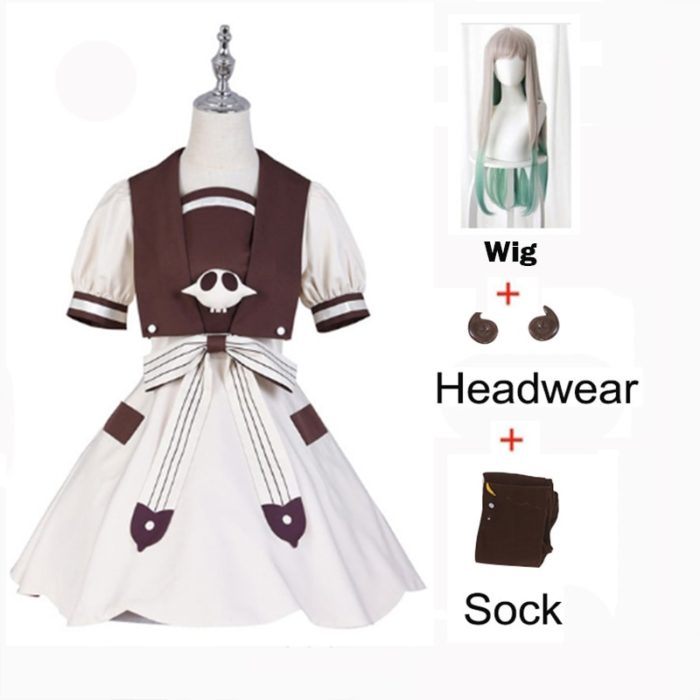2020 Anime Hanako-kun Cosplay Kostüme Uniform Kleid Wc-Gebunden Jibaku Shounen Yashiro Nene Perücke Hanako Kun Kleid uniform Anzug 1
