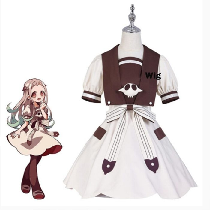 2020 Anime Hanako-kun Cosplay Kostüme Uniform Kleid Wc-Gebunden Jibaku Shounen Yashiro Nene Perücke Hanako Kun Kleid uniform Anzug 2