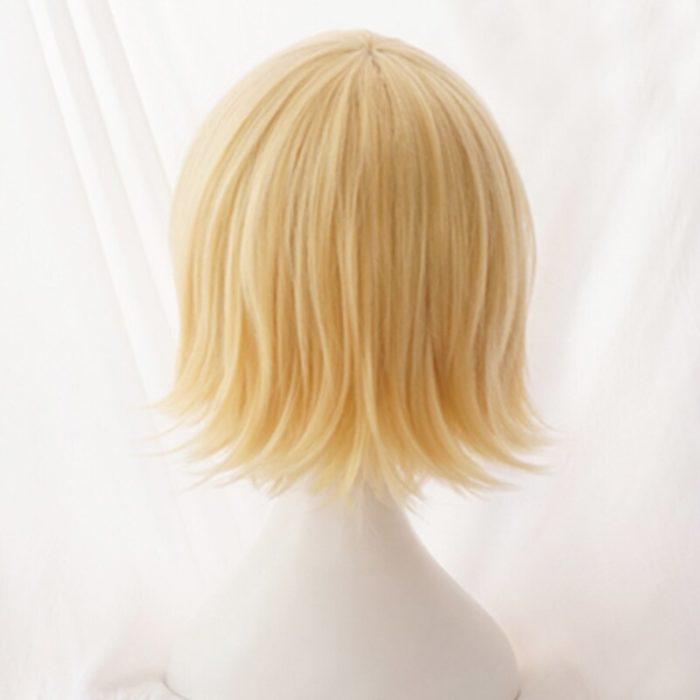 Vocaloid Kagamine Rin/Kagamine Len Kurze Blonde Heat Resistant Haar Cosplay Kostüm Perücke + Track + Perücke Kappe 3
