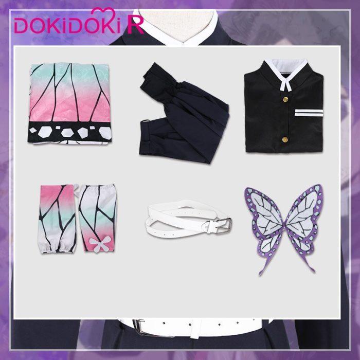 DokiDoki-R Anime Cosplay Dämon Slayer: kimetsu keine Yaiba Kochou Shinobu Kostüm Halloween Frauen Kostüm Kimetsu keine Yaiba Cosplay 6