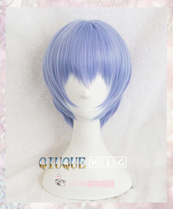 EVA Ayanami Rei Perücken Kurze Licht Blue Heat Resistant Synthetische Haar Perucas Cosplay Perücke + Perücke Kappe 1