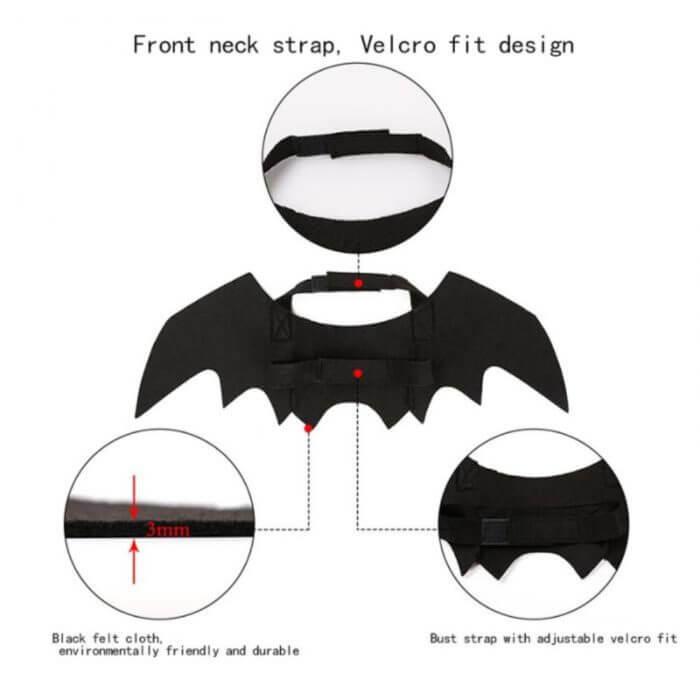 2019 neue OLN Pet Hund Katze Fledermaus Flügel Cosplay Prop Halloween Bat Phantasie Kleid Kostüm Outfit Flügel Katze Kostüme Foto requisiten Headwear 3