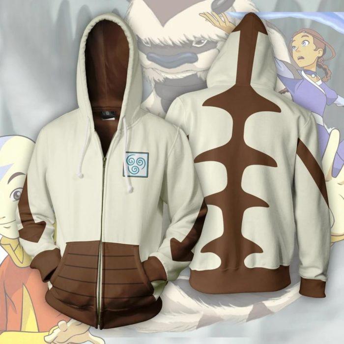 AVATAR Last Airbender-fall APPA Cosplay Hoodie Zipper Up Mit Kapuze Casual Hoodie Anime AVATAR Kostüm Dünne Jacke 1