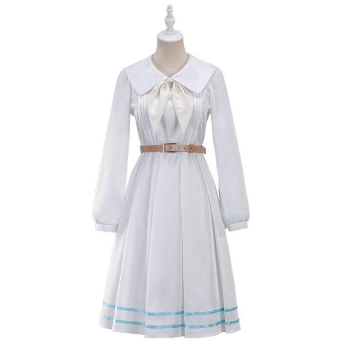 UWOWO Anime Beastars Haru Cosplay Kostüm Uniform Weiß Kaninchen Tier Nette Kleid 2