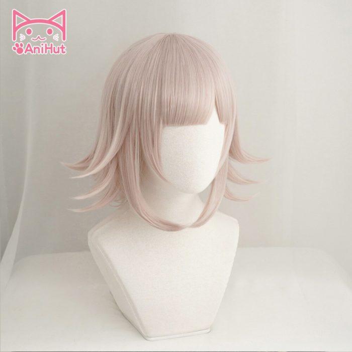 【AniHut】NANAMI CHIAKI Perücke Super Danganronpa Cosplay Perücke Anime Cosplay Haar Synthetische Wärme Beständig Frauen Haar 2
