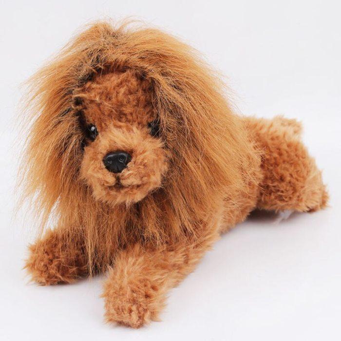Nette Pet Cosplay Kleidung Verklärung Kostüm Löwe Mähne Winter Warme Perücke Katze große Hund Partei Dekoration Mit Ohr Pet Bekleidung 3