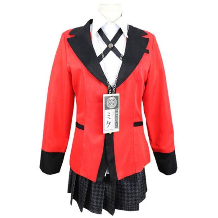 Anime Kakegurui Cosplay Figur Yomotsuki Runa Cosplay Kostüm JK Schule Mädchen Einheitliche Hoodie Halloween Kleid Für Frauen 5