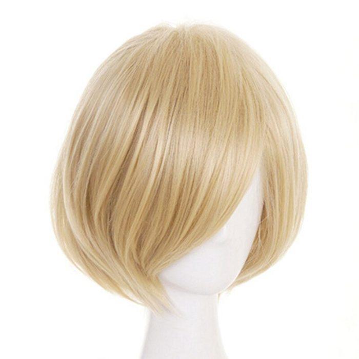 Anime Yuri!!! Auf Eis Yuri Plisetsky Yurio Kurze Blonde Heat Resistant Cosplay Kostüm Perücke 2019 5