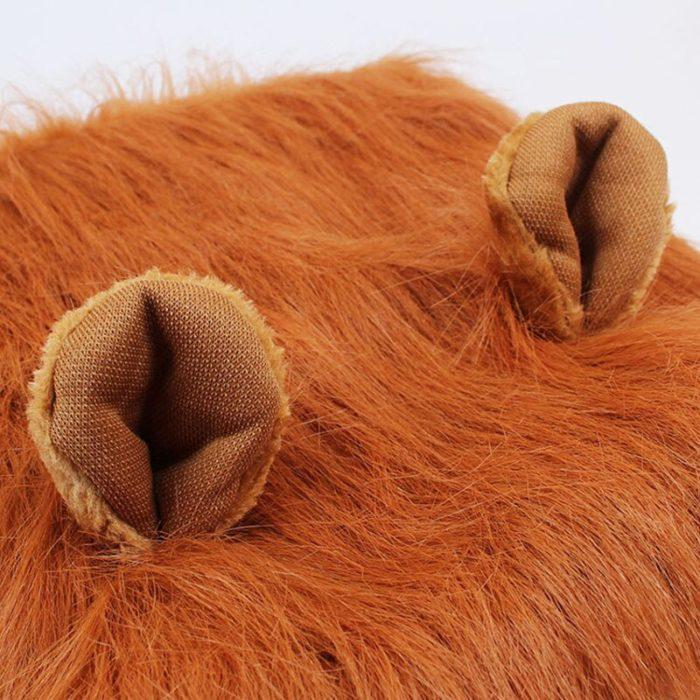 Nette Pet Cosplay Kleidung Verklärung Kostüm Löwe Mähne Winter Warme Perücke Katze große Hund Partei Dekoration Mit Ohr Pet Bekleidung 5