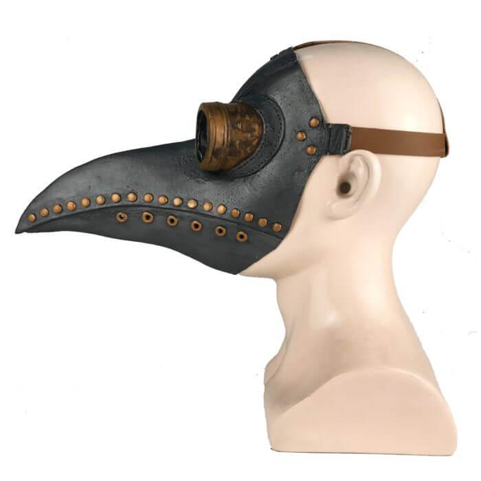 Lustige Medieval Steampunk Pest Arzt Vogel Maske Latex Punk Cosplay Masken Schnabel Erwachsene Halloween Event Cosplay Requisiten 4