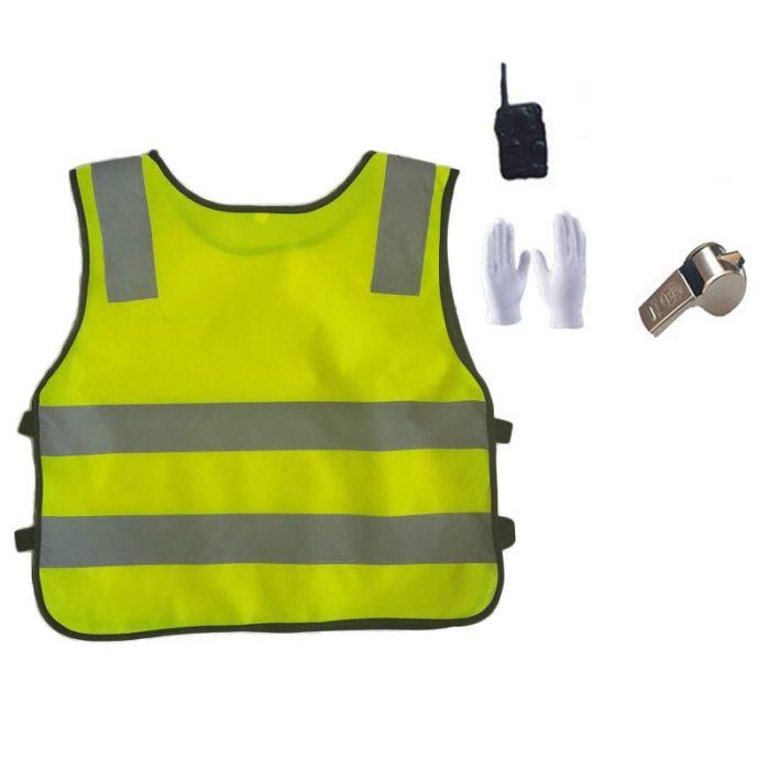 110-160cm Kinder Polizei Offizier Cosplay Kostüm Karneval Party Fancy Kleidung Set kinder Tag Tragen Mädchen Polizistin uniform 6
