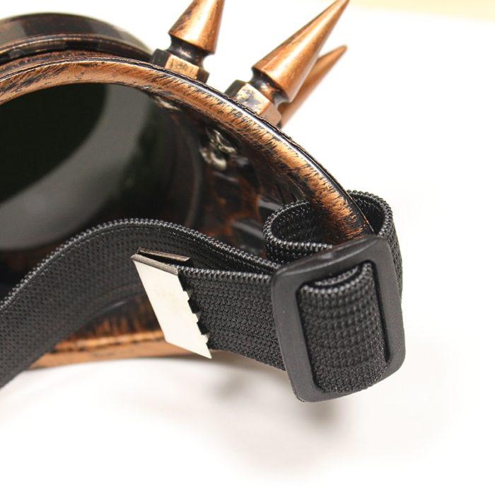Danganronpa V3 Iruma Miu Cosplay gläser Prop Gothic Cosplay Niet Steampunk Brille Gläser Schweißen Punk 6