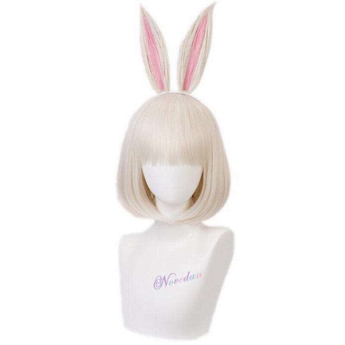 Anime Beastars Haru Cosplay Kostüm Uniform Weiß Kaninchen Tier Nette Kawaii Kleid Und Perücke Für Frauen Mädchen 5