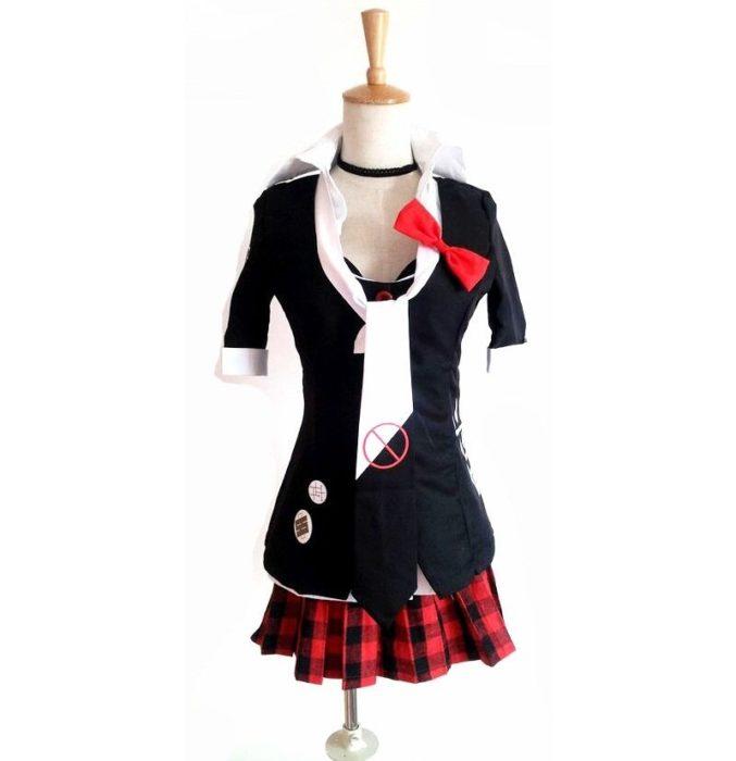 Danganronpa Cosplay Anime Dangan Ronpa Junko Enoshima Cosplay Kostüm Schule Uniformen Spiel Outfits Anzüge Prop Monokuma Haarnadeln 7